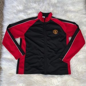 Manchester United official track zip up jacket L